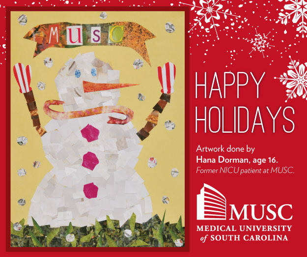 Happy Holidays: Artwork by Hana Dorman former NICU patient